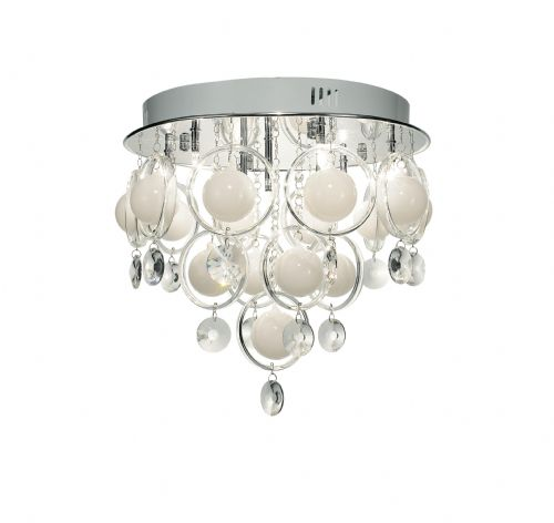 Cloud 9-light Polished Chrome Baubles Pendant Ceiling Light CLO1350 (033278)